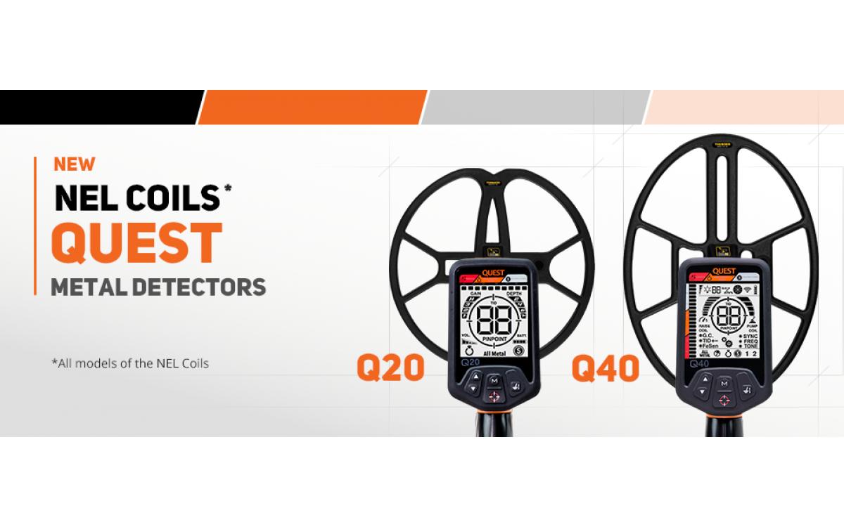 Piastre NEL per metaldetector Quest Q20 e Q40