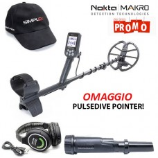 Metaldetector Nokta Makro SIMPLEX Plus WHP Omaggio PULSE DIVE Pointer