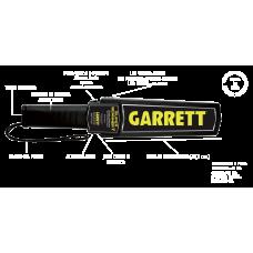 Metal detector palmare sicurezza Garrett SUPER SCANNER V