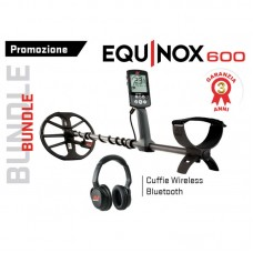 Metaldetector Minelab Equinox 600 + cuffia Wireless PROMO Bundle
