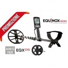 """Metaldetector Minelab Equinox 600 + Piastra 6"""" PROMO Estate"""