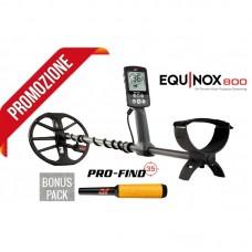 PROMO Metaldetector Minelab Equinox 800 + Profind 35